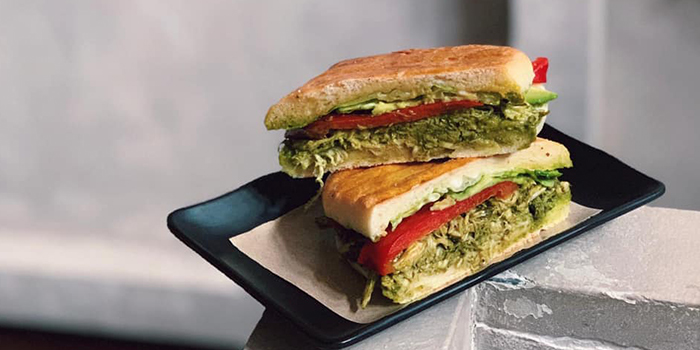 Pesto Chicken Sandwich from The Muffinry/At Night in Telok Ayer, Singapore
