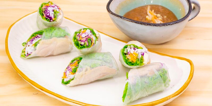 Fresh Spring Roll from TONKIN Vietnamese Noodle and Coffee at Kinex Mall in Paya Lebar, Singapore