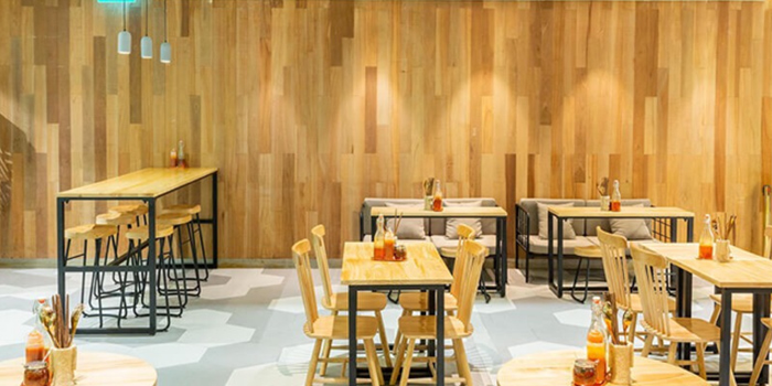 Interior of TONKIN Vietnamese Noodle and Coffee  at Kinex Mall in Paya Lebar, Singapore