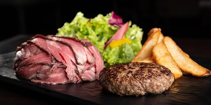 Hamburg Steak with Roast Beef Set from Biseryu Japanese Restaurant in Orchard, Singapore