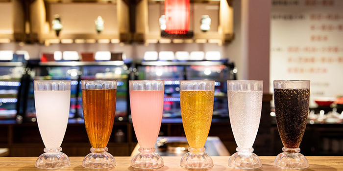 Drinks from Xiao Mu Deng Traditional Hotpot in Chinatown, Singapore
