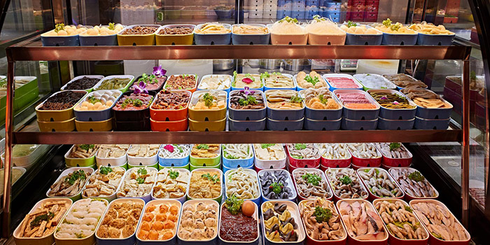 Food Spread from Xiao Mu Deng Traditional Hotpot in Chinatown, Singapore