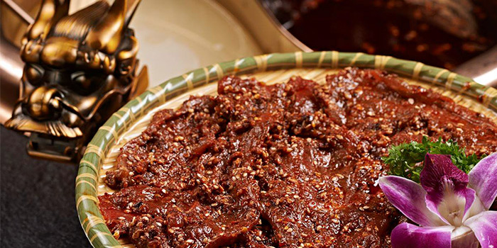 Marinated Beef from Xiao Mu Deng Traditional Hotpot in Chinatown, Singapore