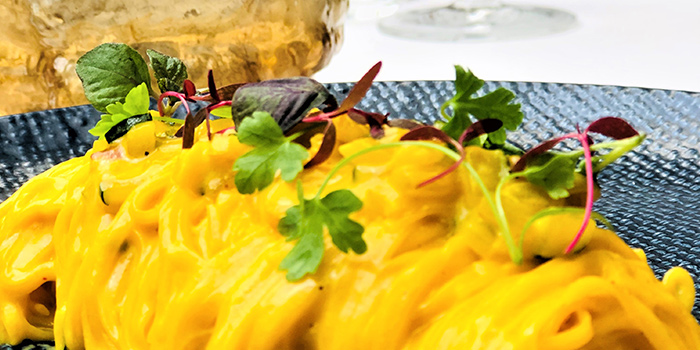 Saffron Tagliolini from ALBA 1836 Italian Restaurant in Duxton, Singapore
