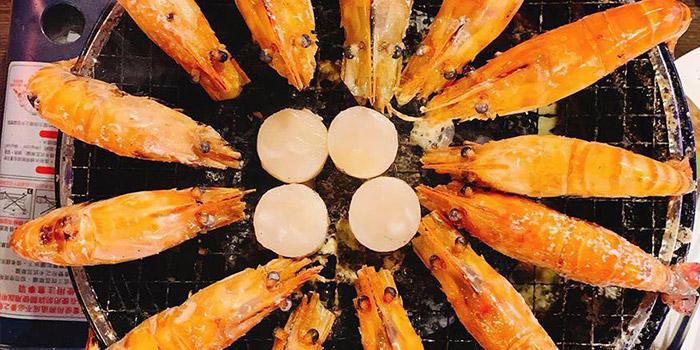 Scallop and Prawn, Thai BBQ Shrimp, Yuen Long, Hong Kong