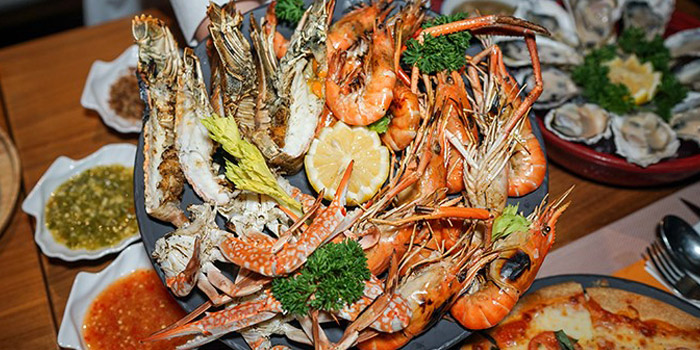 Seafood Dishes from Crave Wine Bar & Restaurant at Aloft Bangkok 35 Sukhumvit Soi 11, Klongtoey-nua Wattana, Bangkok