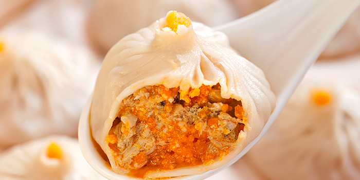 Shanghai Dumpling with Crab Meat and Mineed Pork and Ginger and Vingar, Bloom By Wang Jia Sha, Causeway Bay, Hong Kong
