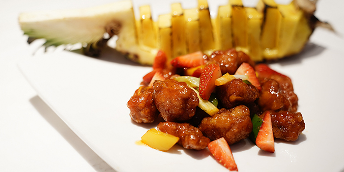 Sweet & Sour Pork with Fresh Pineapple, SHÈ, Central, Hong Kong
