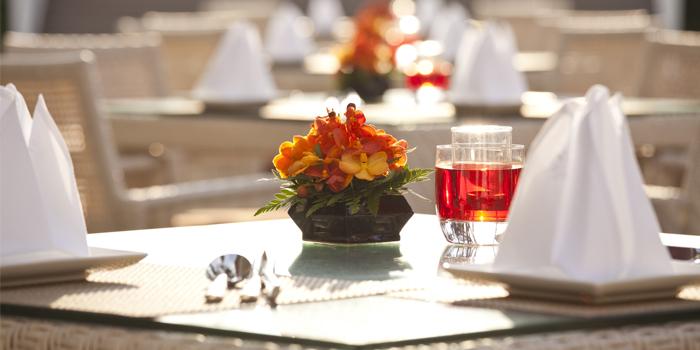 Table Setting of Baan Talay in Bangtao, Phuket, Thailand.