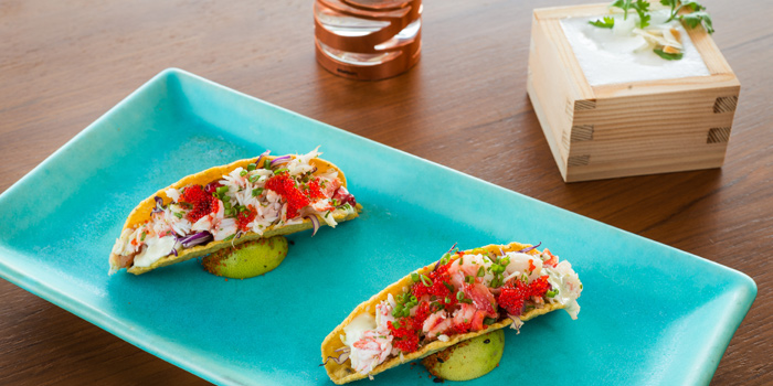 Taco Dishes from SEEN Restaurant & Bar Bangkok at AVANI Riverside Bangkok Hotel, Charoennakorn Road, Bangkok