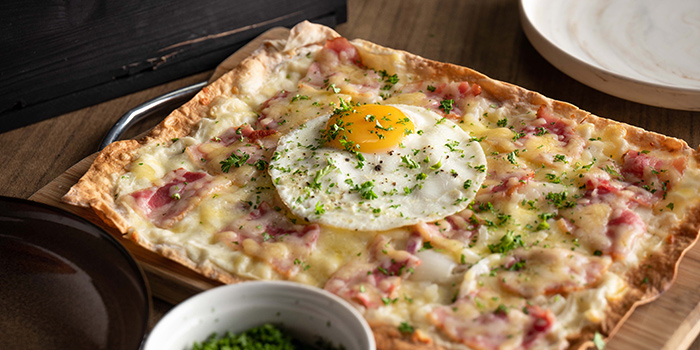 Tarte Flambe from Praelum Wine Bistro in Duxton, Singapore