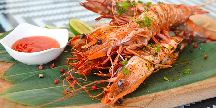 Thai Style King Prawns from Latest Recipe at Le Méridien in Sentosa, Singapore