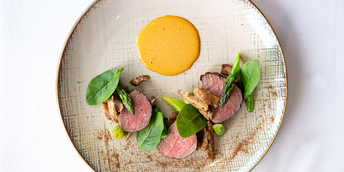 Veal Tenderloin with Sea Urchin Sauce from The Lighthouse in Fullerton, Singapore