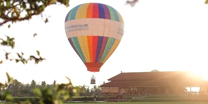 Hot Air Balloon at The Restaurant, Chedi Club Ubud
