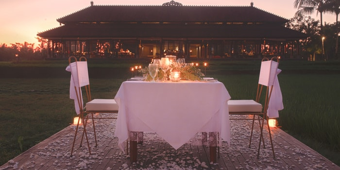 Rice Paddy Romance at The Restaurant, Chedi Club Ubud