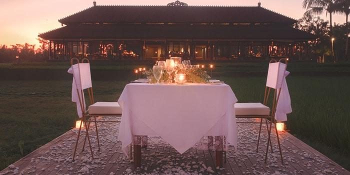 Rice Paddy Romance at The Restaurant, Chedi Club Ubud