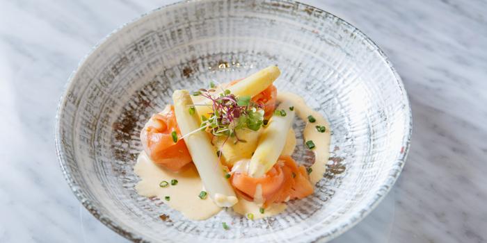 White Asparagus from Cafe Claire at Oriental Residence Bangkok 110 Wireless Road Lumpini, Pathumwan Bangkok