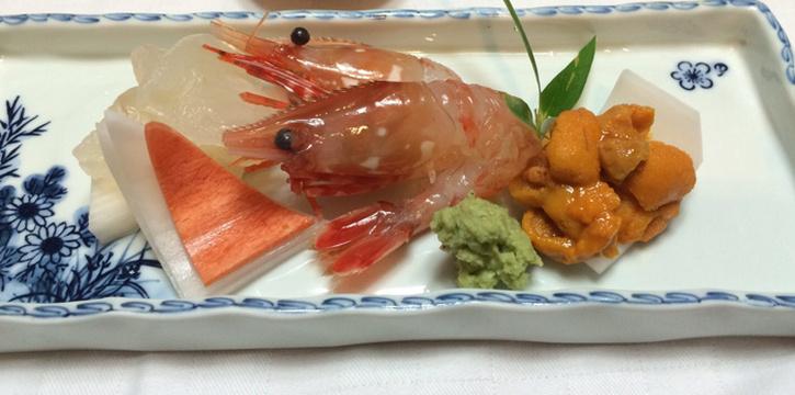 Ebi-Uni-Sashimi from Serina Japanese Teppanyaki at 9/26 Soi Jim Thompson Surawong, Bangrak Bangkok