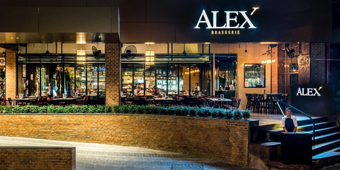 The Entrance of Alex Brasserie at 18 Soi Sukhumvit 11 Klongtoey Nua, Wattana Bangkok
