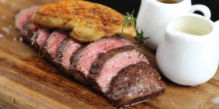 Flat Iron Steak with Foie Gras from Scalini at Hilton Sukhumvit Hotel, on Sukumvit Soi 24