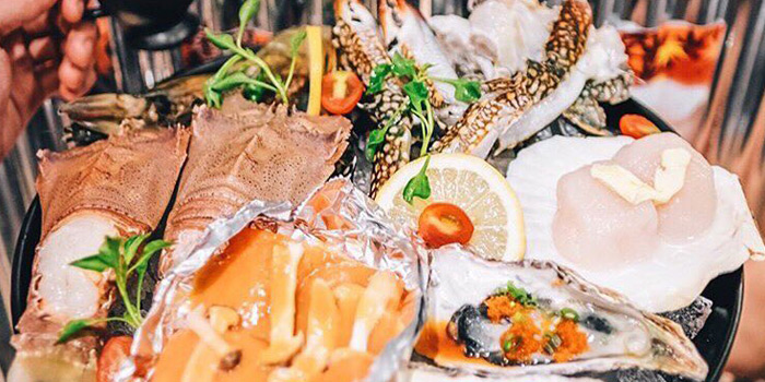 Fresh Seafood from Ebi Sensei at Siam Square soi 10 Rama I Rd, Pathum Wan Bangkok