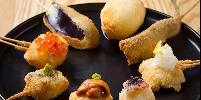 Mixed Fried Food, Jan Jan Kushikatsu, Tsim Sha Tsui, Hong Kong