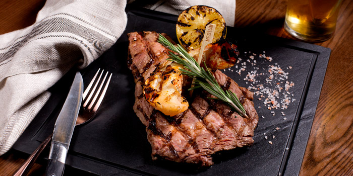 Grilled Ribeye Steak from Cali-Mex Bar and Grill @ Sukhumvit 11 at 26/8, 26/9 Soi Sukhumvit 11, Room B4, B5 Klong Toey Nua, Wattana Bangkok
