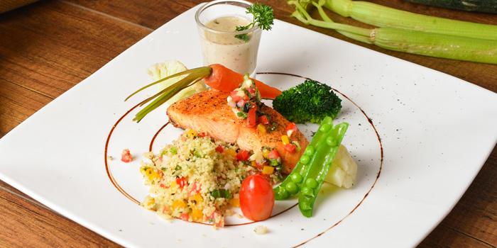 Grilled Salmon from Medinii at The Continent Hotel Bangkok by Compass Hospitality 413 Sukhumvit Road. Klongtoey, Wattana Bangkok