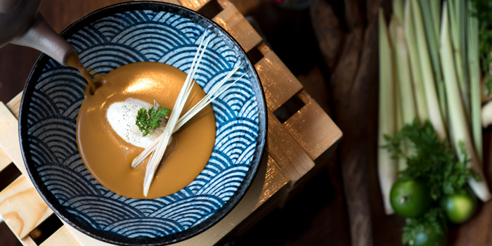 Lemongrass & Lime Scented Lobster Bisque from Niche at Siam Kempinski Hotel, Bangkok