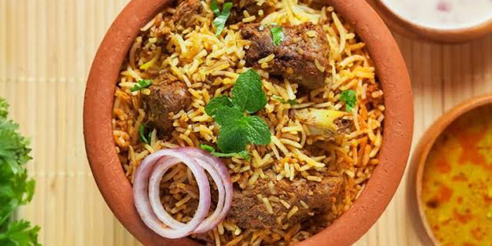 Mutton Hydrabadi Briyani from Tandoor at 155/8-9 Sukhumvit Soi 11/1 Bangkok