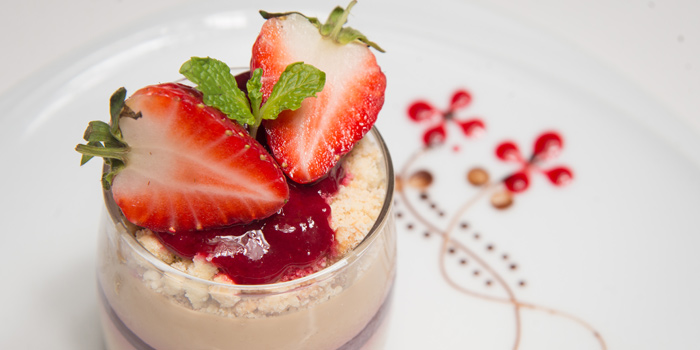 Panna Cotta from Medinii at The Continent Hotel Bangkok by Compass Hospitality 413 Sukhumvit Road. Klongtoey, Wattana Bangkok