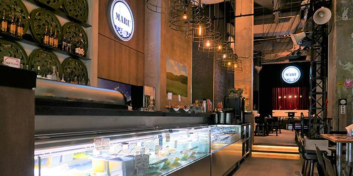 Salad Bar of Maru Japanese Restaurant at ICON Village in Tanjong Pagar, Singapore