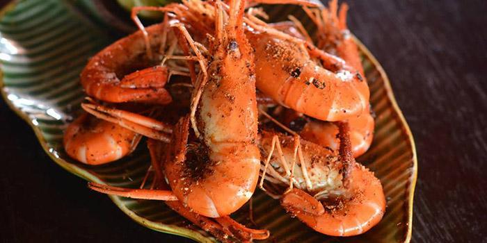 Food from Sambal Shrimp, Seminyak, Bali