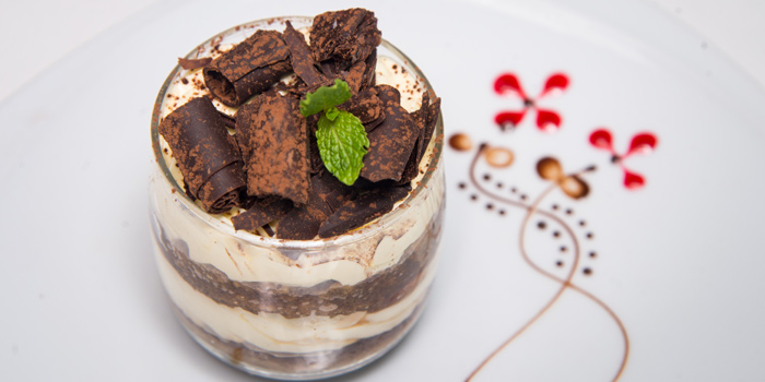 Tiramisu from Medinii at The Continent Hotel Bangkok by Compass Hospitality 413 Sukhumvit Road. Klongtoey, Wattana Bangkok