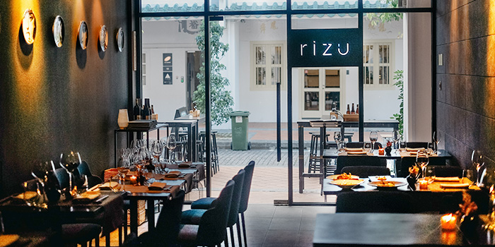 Interior at RIZU in Duxton, Singapore
