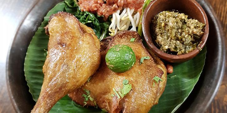 Bebek Goreng from Taliwang Restaurant in Bugis, Singapore
