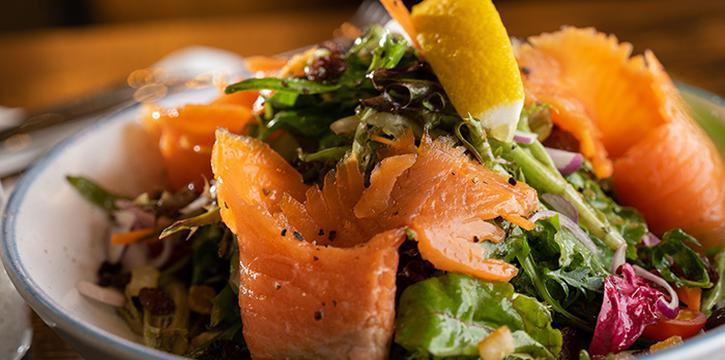 Smoked Salmon Salad from Taliwang Restaurant in Bugis, Singapore