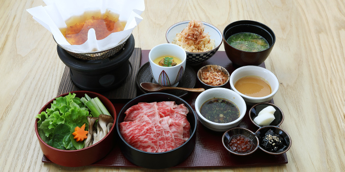 A4 Wagyu Dashi Shabu Shabu Set Lunch from MAI by Dashi Master Marusaya in Outram, Singapore