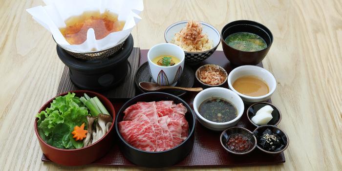 A4 Wagyu Dashi Shabu Shabu Set Lunch from MAI by Dashi Master Marusaya in Outram, Singapore
