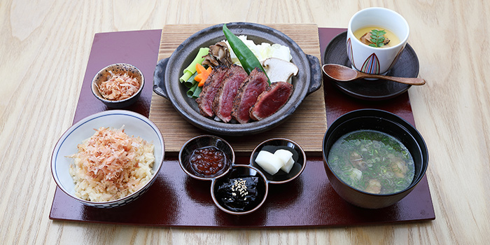A4 Wagyu Toban Yaki Set Lunch from MAI by Dashi Master Marusaya in Outram, Singapore