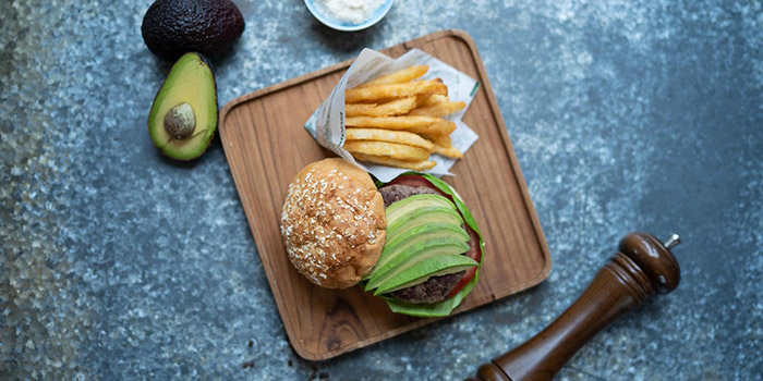 Avocado Burger and French Fries, Glasshouse (Cityplaza), Quarry Bay, Hong Kong