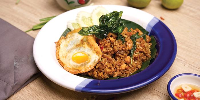 Basil Fried Rice at Niyom, Greenville