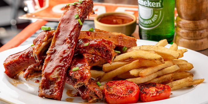Set BBQ Ribs from V8 Diner at 32/2 Sukhumvit Soi 11 Insanity Building Khlong Toei Nuea, Khlong Toei Bangkok