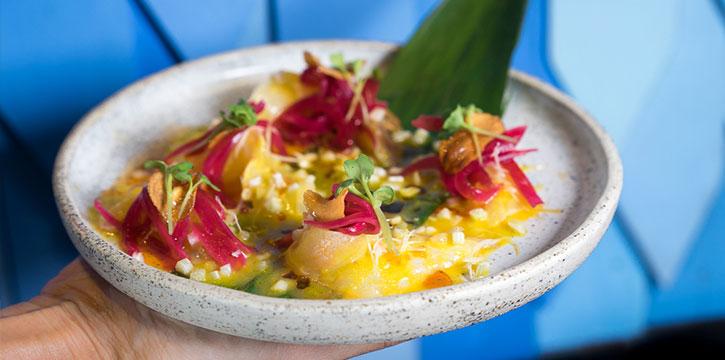 Cured Flounder from Billy Ho, Canggu, Bali