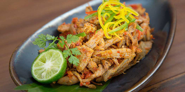 Food from Tamarind Restaurant, Uluwatu, Bali