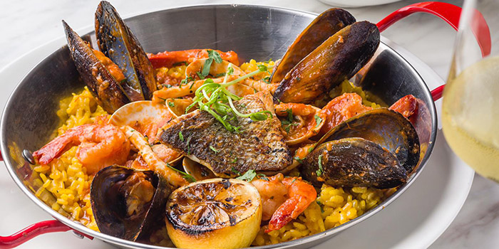 Brazilian Saffron Rice with Mixed Seafood, Papa Joe, Tsim Sha Tsui, Hong Kong