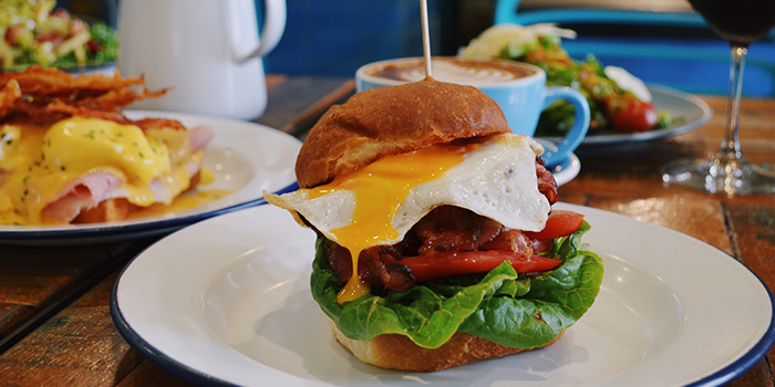 Breakfast BLT Burget from The Lokal in Chinatown, Singapore