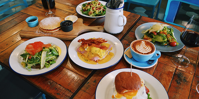 Brunch Spread from The Lokal in Chinatown, Singapore