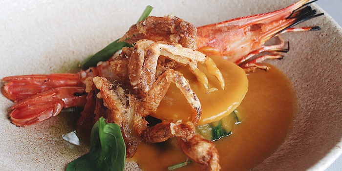 Carabinero Prawn from SKAI Restaurant at Swissotel the Stamford in City Hall, Singapore