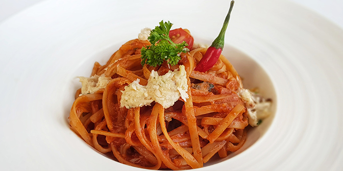 Chilli Crabmeat Linguine (1-31 Aug) from Lawry